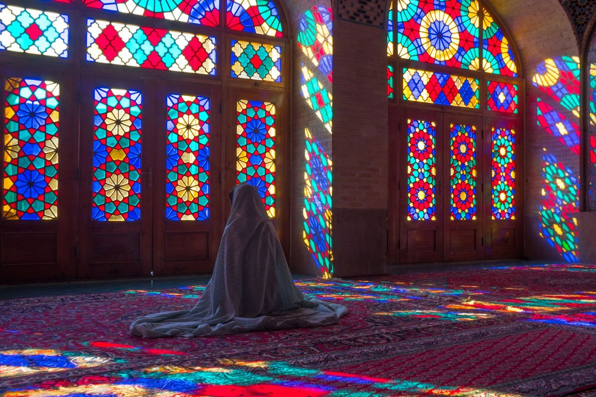 """Nasir al-Molk Mosque, Iran: Located in Shiraz and known as the """"Pink Mosque,"""" this house of …"""