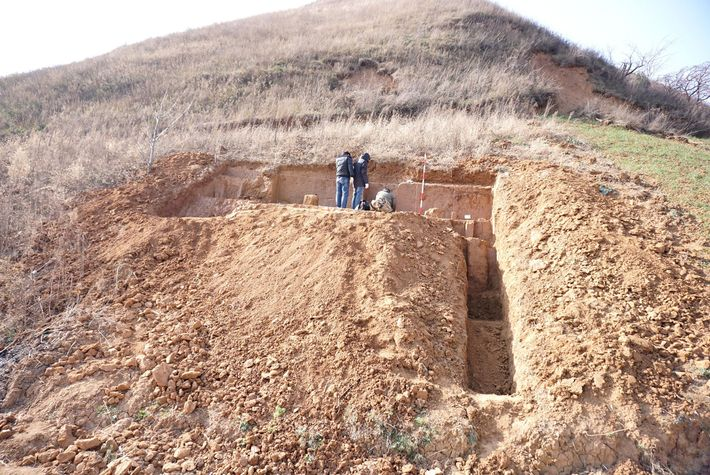 Nestled on a hillside in China's Shaanxi Province, this dig site exposed Shangchen's oldest stone tools. ...