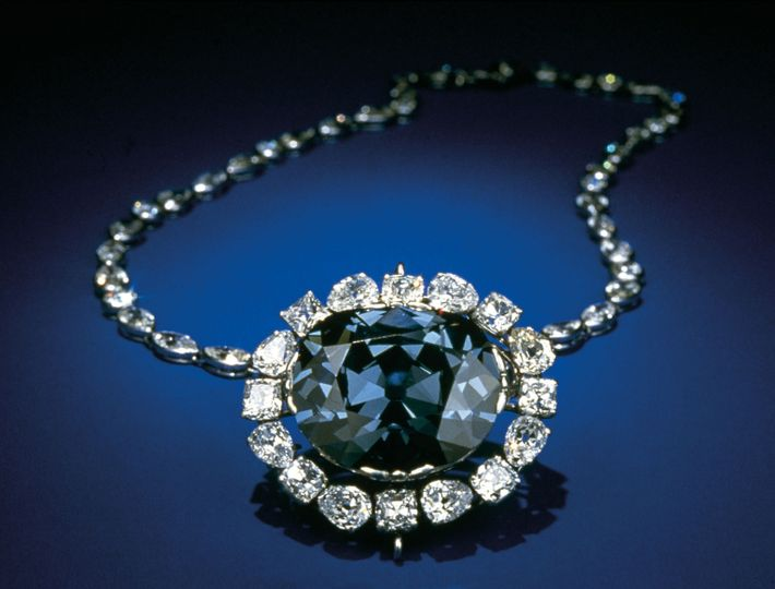 The Hope Diamond, currently in the Smithsonian Institution's Museum of Natural History in Washington, D.C., was ...