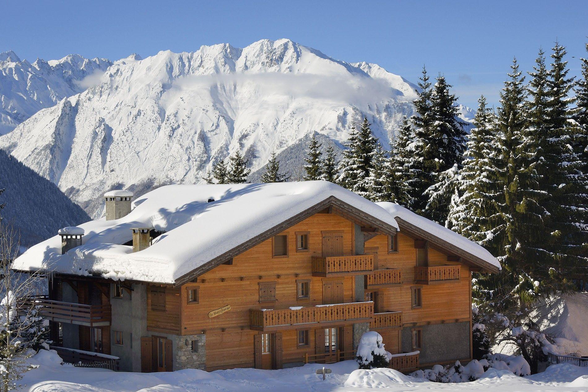 A ski chalet in Valais, Switzerland