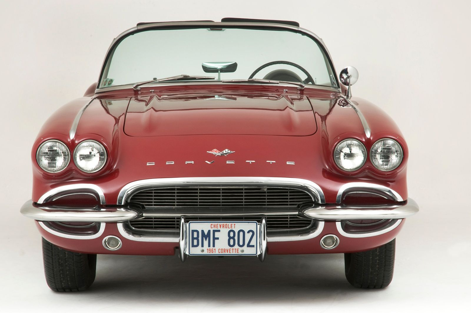 A 1961 model Chevrolet Corvette similar to the first cars 'leased' by the astronauts under Jim ...