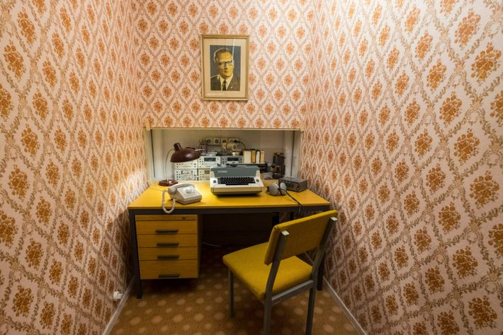STASI listening station on display at DDR Museum