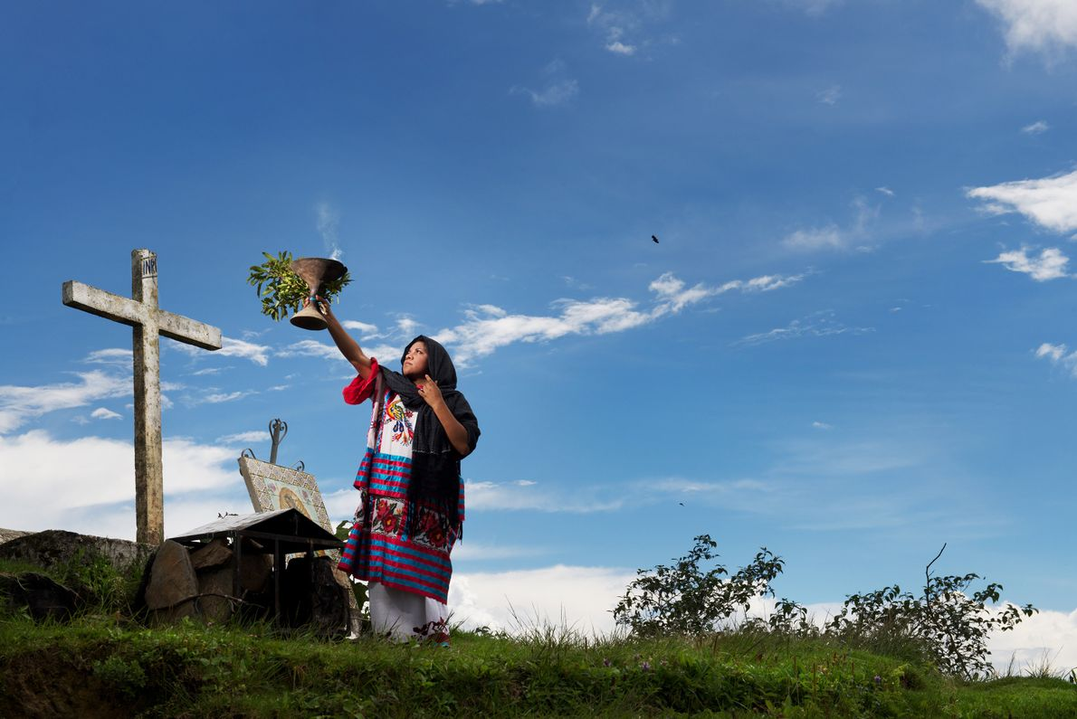 Thousands of people visit the mountains of Huautla to make offerings or seek cures from traditional ...