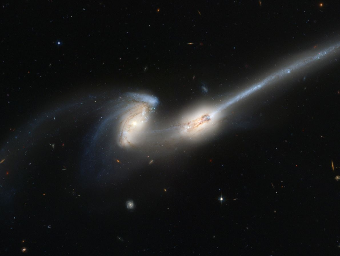 The Milky Way and Andromeda galaxies are hurtling toward each other at 300,000 miles (480,000 kilometres) ...