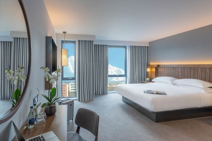 For vistas of the Dublin Mountains, opt for the top-storey rooms at the rear of the ...