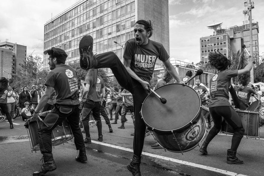 Ciclovía is also a place for performers and activists.