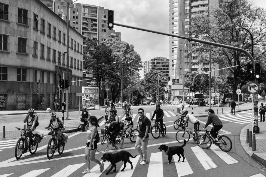 The Ciclovía's director, Bibiana Sarmiento, said that in a highly stratified society like Colombia's one of ...