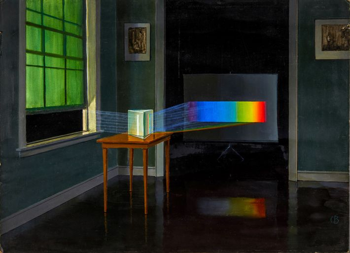 """""""Light, here shown split into its spectrum of colours, has taught us almost all we know ..."""