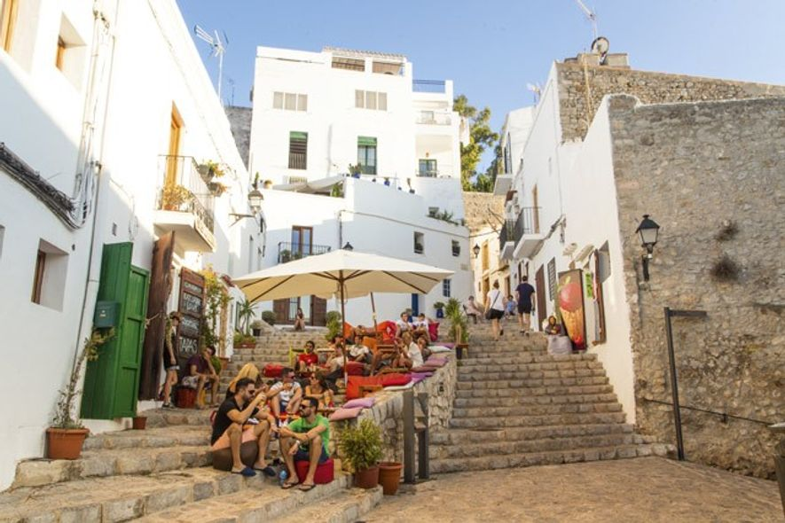 Ibiza Old Town in the summertime. Image: Getty