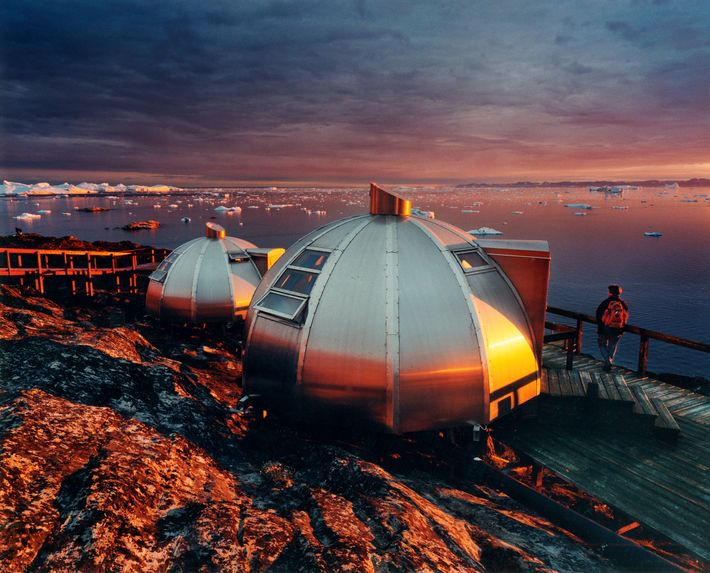 Hotel Arctic's igloos in northern Greenland give guests a front row seat to a steady stream ...