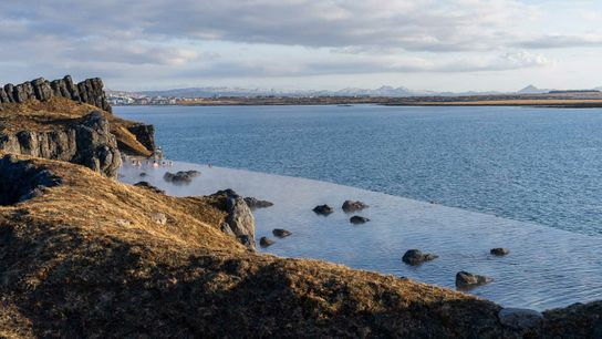 Sky Lagoon, a geothermal spa that opened near central Reykjavik earlier this year