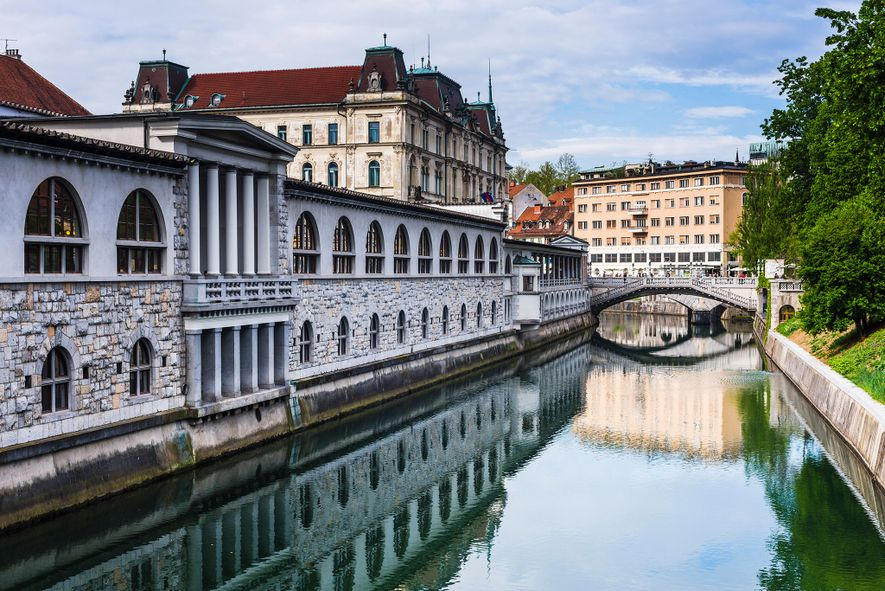 Ljubljana, Slovenia, is a great alternative if you are seeking romantic waterways to enjoy.