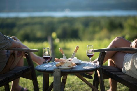 Enjoy sampling some of the wonderful French-style wines from the vineyards on Île d'Orléans.