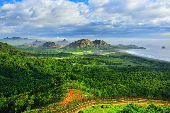 The Korean Demilitarized Zone (DMZ) is a 155-mile barrier that cuts a swathe across the peninsula, ...