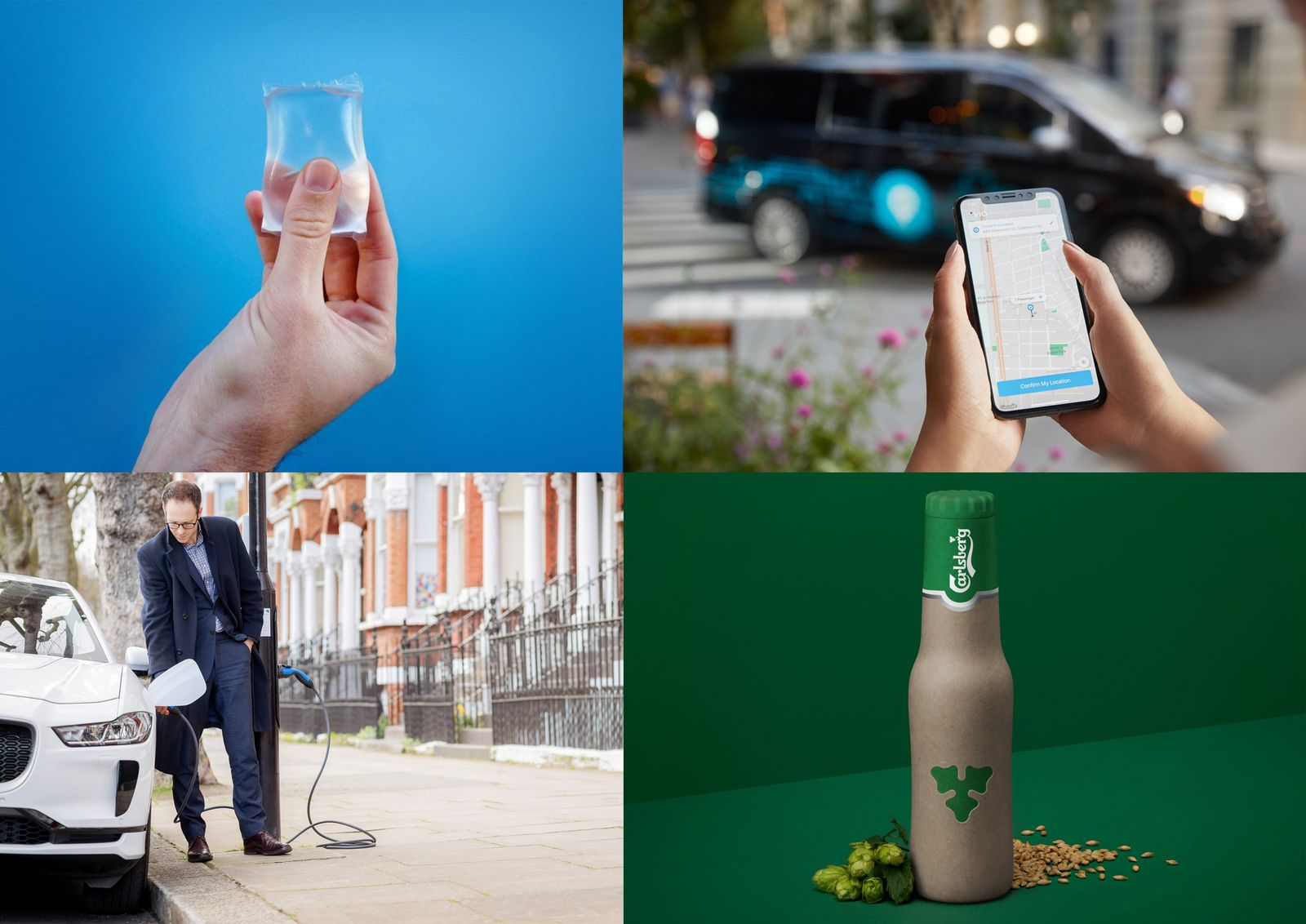 Where sustainability meets convenience: edible 'Ooho' sachets from Notpla, minibus hailing, Carlsberg's plant n' paper fiber beer ...
