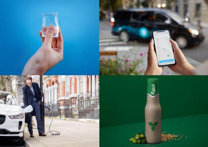 Where sustainability meets convenience: edible 'Ooho' sachets from Notpla, minibus hailing, Carlsberg's plant n' paper fiber beer ...