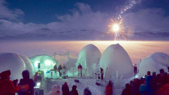 Ice Music Festival-fireworks