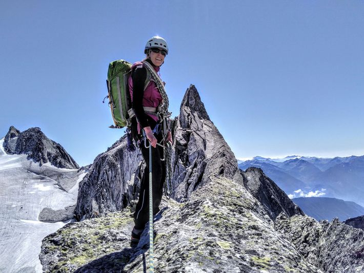 The mountaineer joined a local Alpine Club when she was 11 and has been hooked ever ...
