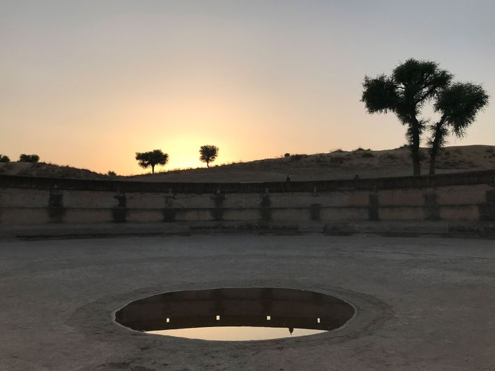 Centuries-old wells like this one dot the Thar Desert of Rajasthan.