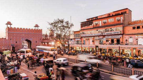 Chandpole Bazar near Chandpole Gate.