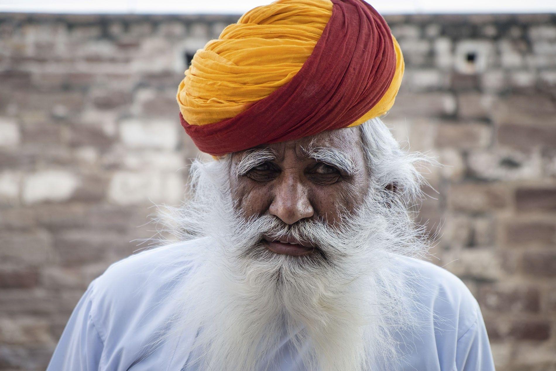 A caretaker of Mehrangarh Fort