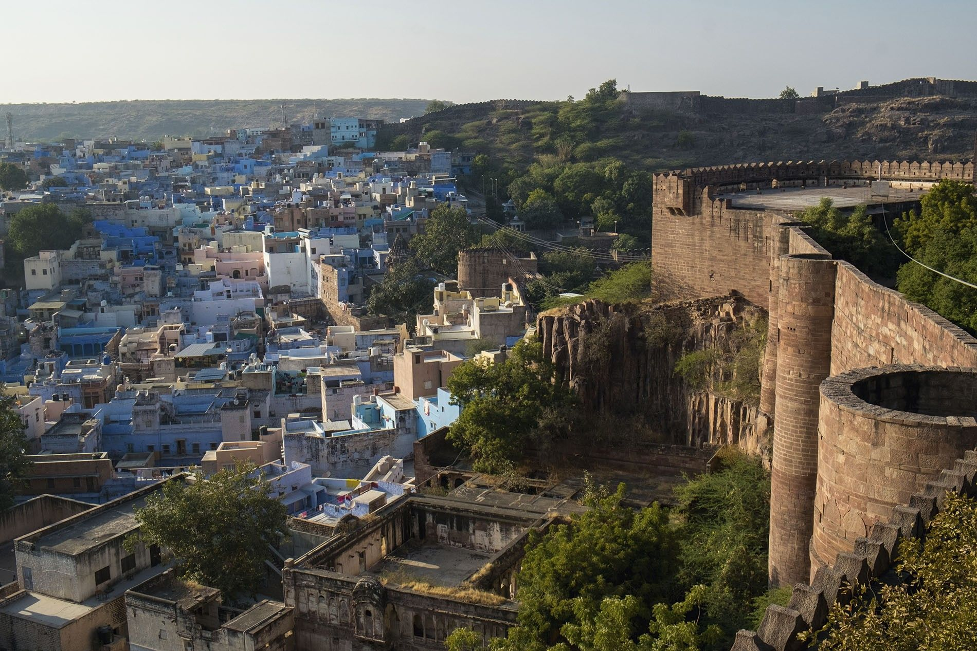 View from the top of Mehrangarh Fort.