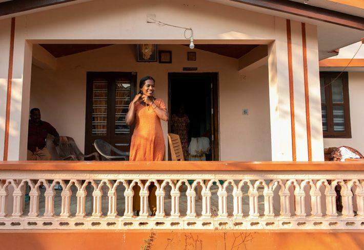 Sabu's family house in Manjira.
