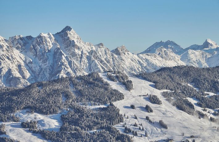The Saalbach ski area has almost 170miles of groomed pistes.