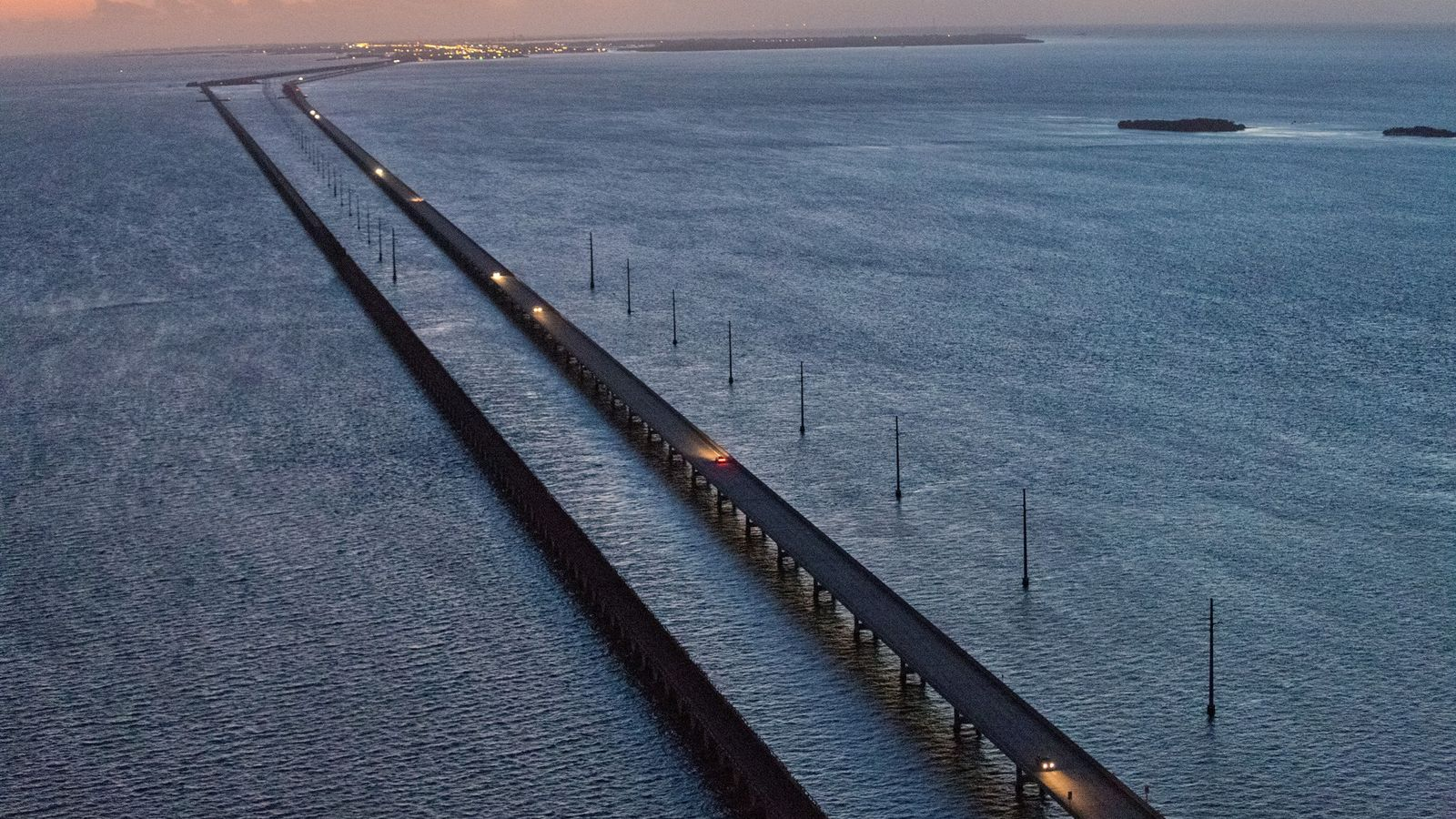 Six Mile Bridge, which leads from Marathon Key toward Key West, is what the South Florida ...