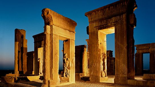 Monumental doorways are nearly all that remain of Darius's palace.