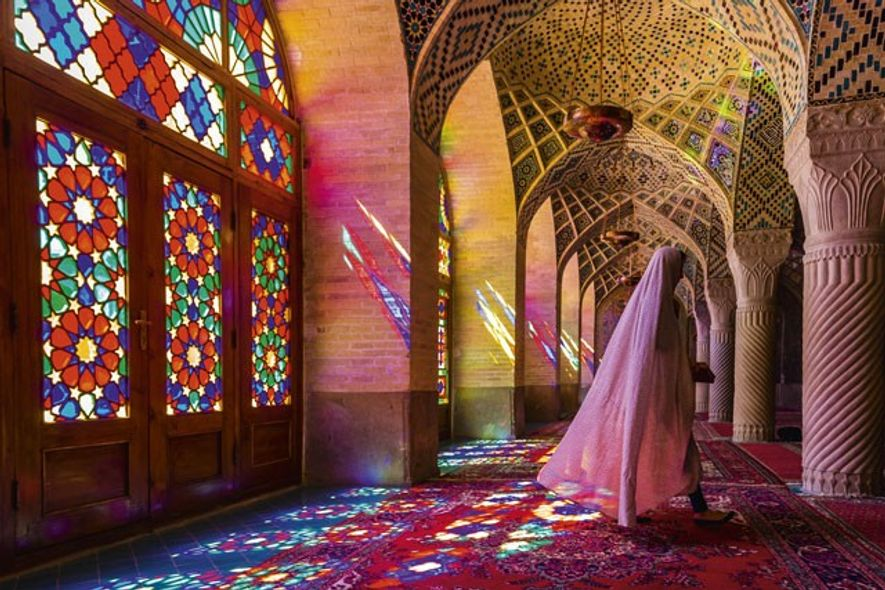 Inside Nasir-al-Molk Mosque. Image: Getty