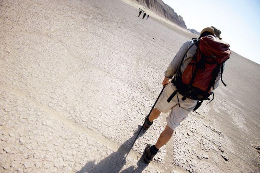 Trekking across the Kaluts canyons