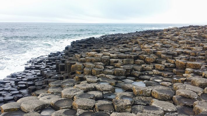 Legend has it that the Causeway was built by an Irish giant with the columns so ...