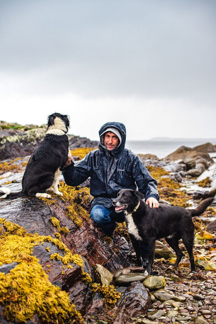 John O'Shea, seen here with his dogs, Watson and Luna, has been sailing visitors to the ...