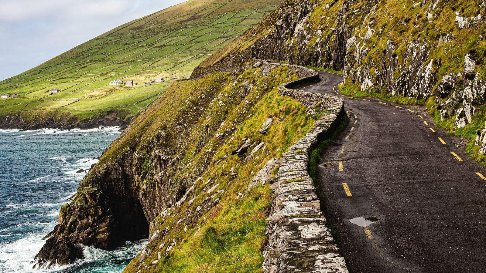 Coastal road on the Dingle Peninsula.