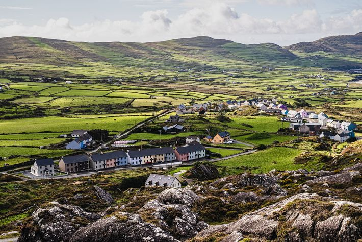A patchwork of fields near Allihies on the Beara peninsula.