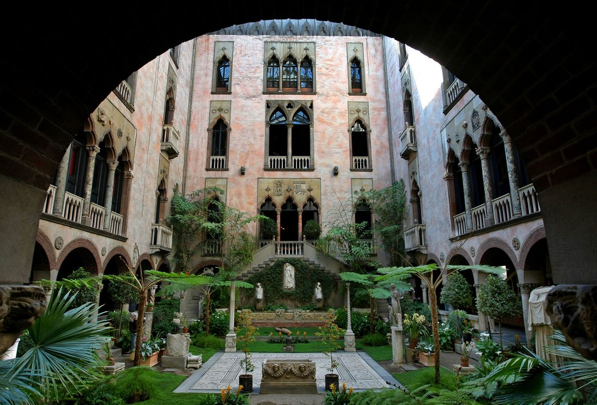 "Boston's Isabella Stewart Gardner Museum is known as a ""palace turned inside out"" because of its …"