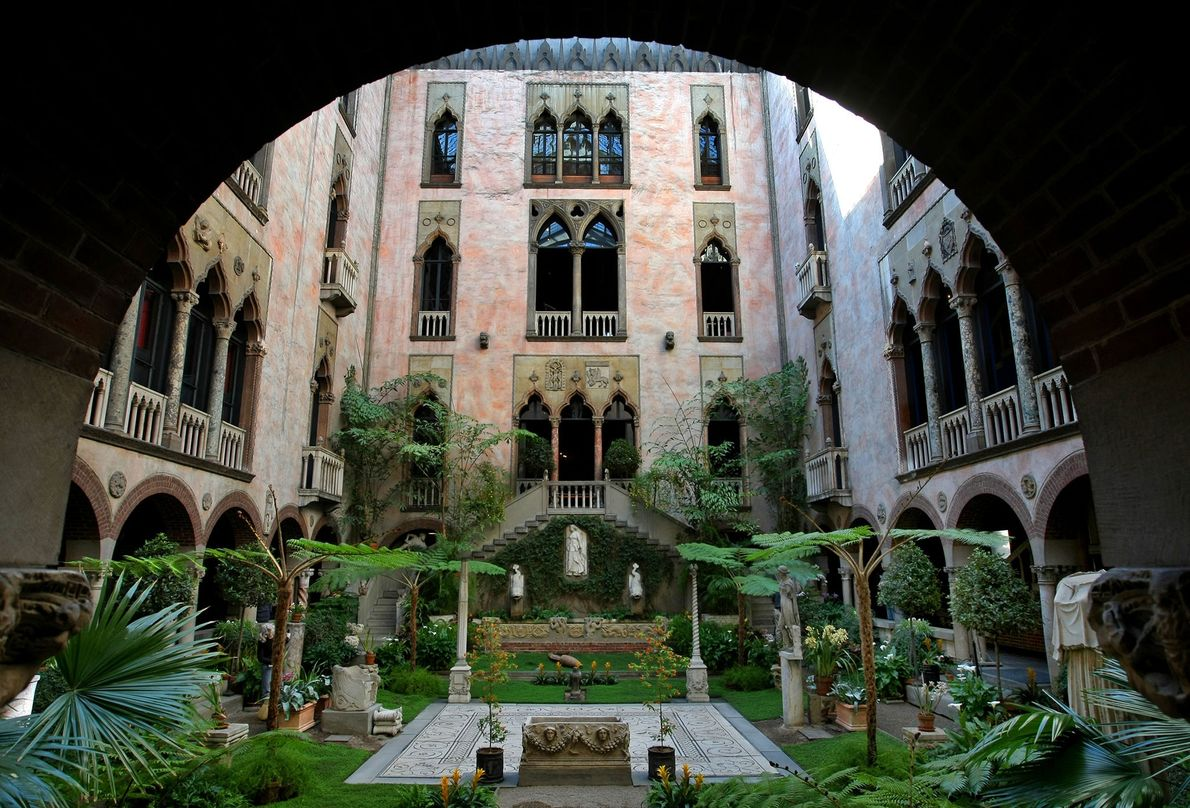 """Boston's Isabella Stewart Gardner Museum is known as a """"palace turned inside out"""" because of its ..."""