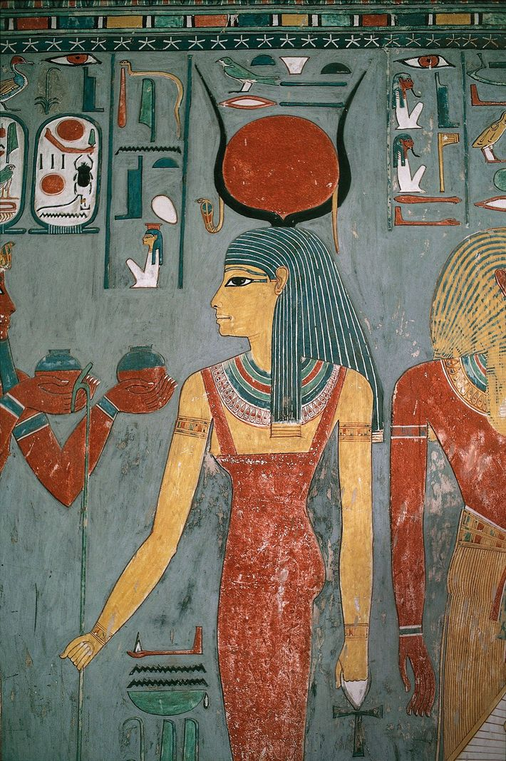 In this 13th-century B.C. mural from the tomb of Horemheb in the Valley of the Kings, ...