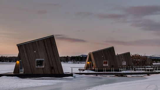 The Arctic Bath in Sweden is a unique floating hotel that makes the most of its ...