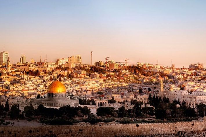 Dome of Rock, seen from Temple Mount. Image: Getty