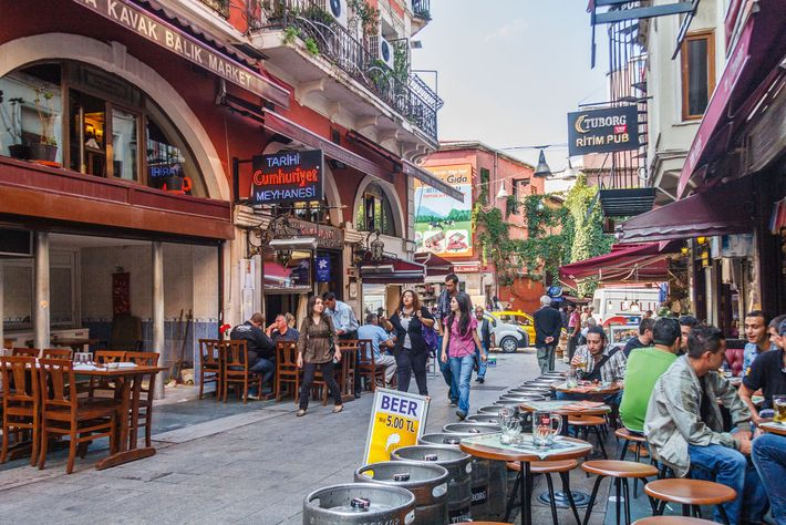 Meyhane in the Beyoğlu district. Istanbul is synonymous with meyhane, traditional taverns popularised during Ottoman rule as ...