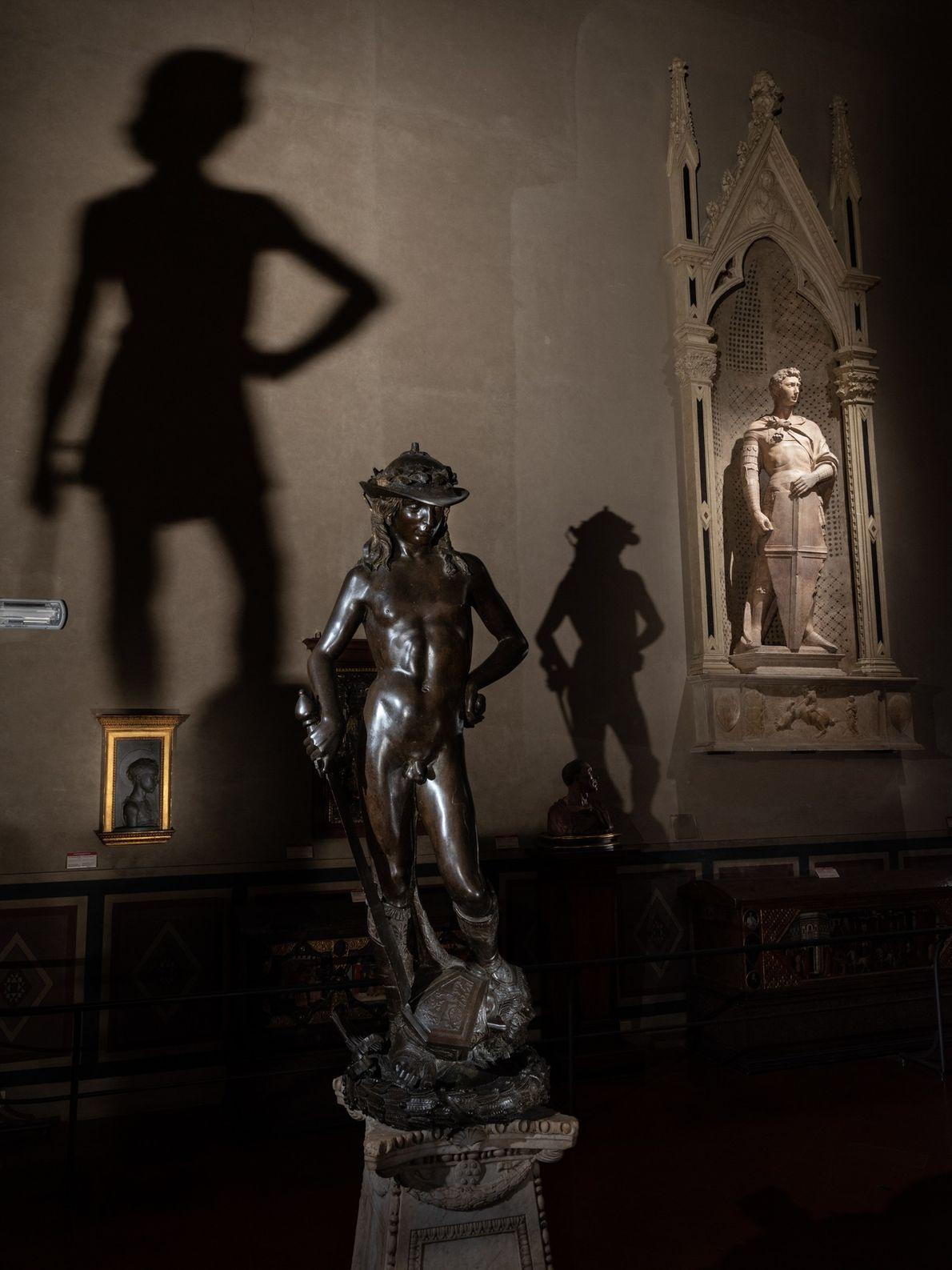 Donatello's David (1440) stands sentinel in Florence's Bargello Museum.