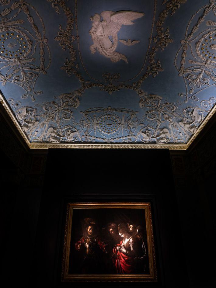 Caravaggio's Martyrdom of Saint Ursula (1610) hangs in Naples' Galleria d'Italia.