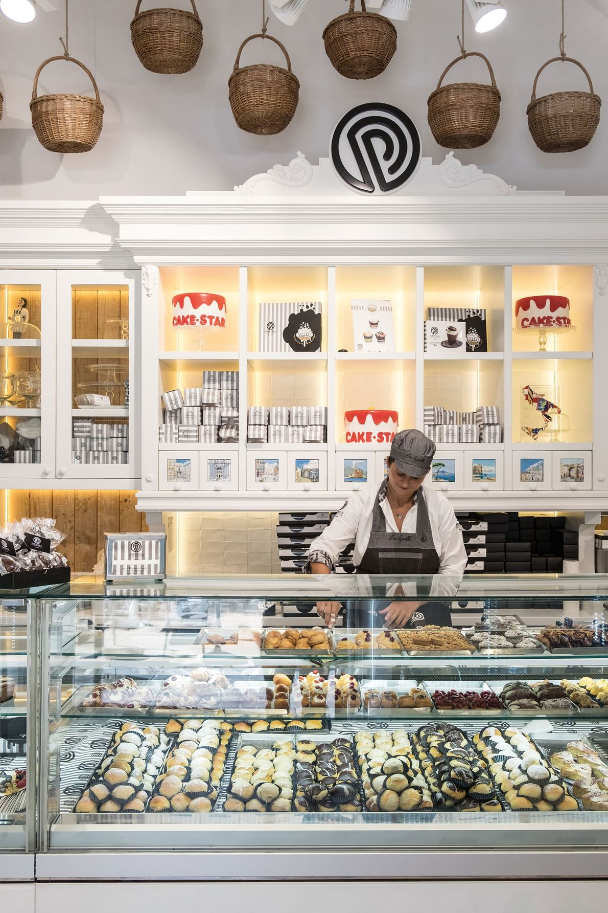 The pastry counter at Pasticceria Poppella.