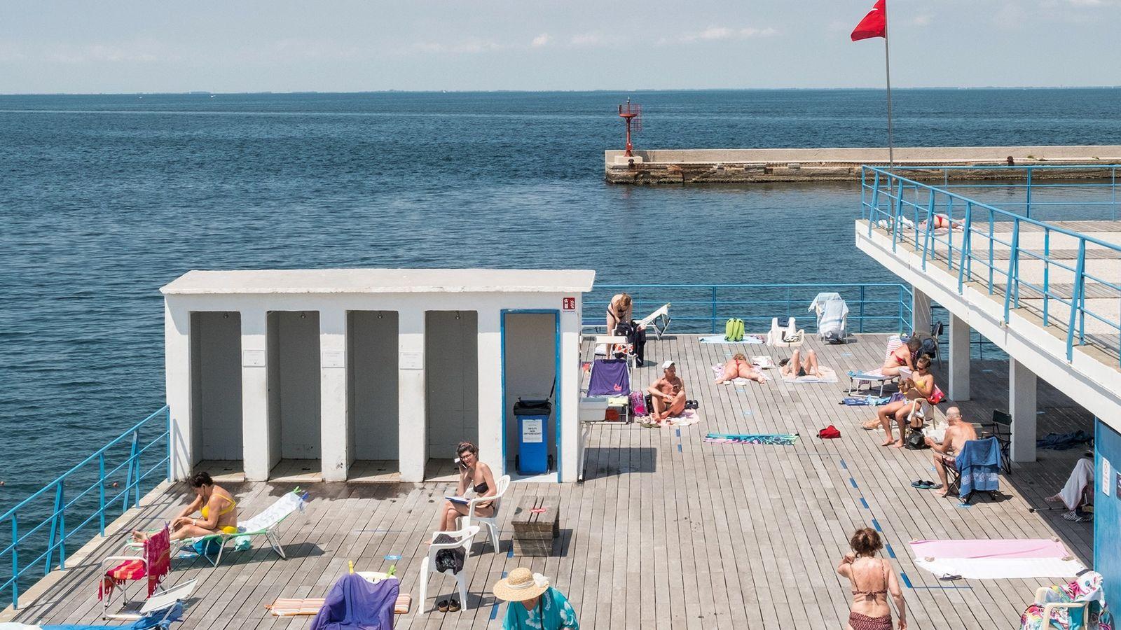 Historic Bagno Ausonia, a popular swimming spot close to Il Pedocin.