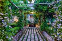 Walled garden at Castello di Ugento, Puglia.