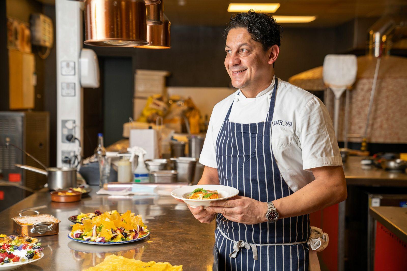 Francesco Mazzei is chef-patron of three London restaurants, including Sartoria.