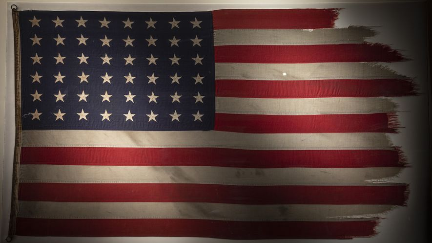 In honour of the 75th anniversary of the Battle of Iwo Jima, the flag made famous ...