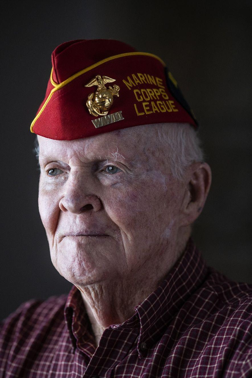 """I had my 20th birthday on Iwo Jima,"" says John ""Jack"" Thurman, now 94. ""Some of ..."